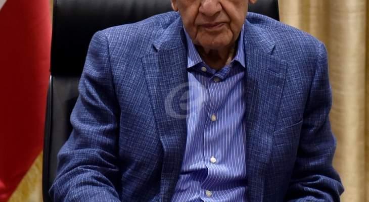 بري تلقى برقية تهنئةً بمناسبة عيد المولد النبوي من رئيس مجلس الشعب السوري