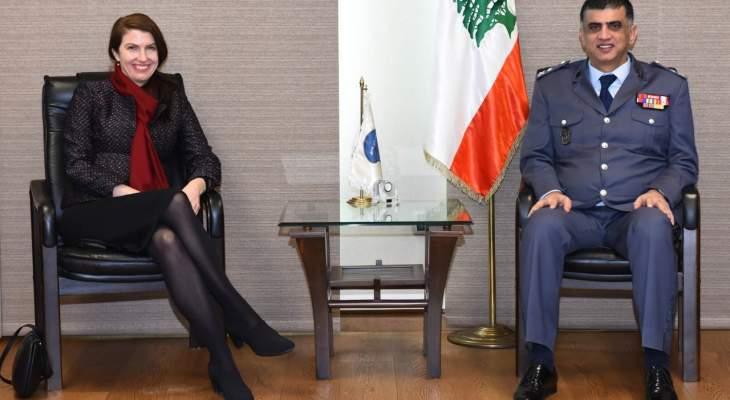 اللواء عثمان التقى سفيرة أستراليا ورئيس بعثة اللجنة الدولية للصليب الاحمر
