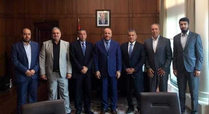 وفد من حماس عرض مع اللواء إبراهيم قضايا اللاجئين الفلسطينيين في لبنان