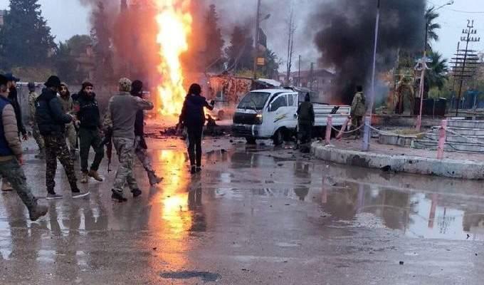 مقتل شخص بإنفجار سيارة مفخخة قرب دوار الجوزة في مدينة رأس العين الحسكة