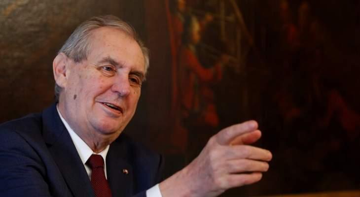 رئيس التشيك: قضية انفجار فربيتيتسي غامضة ومن السابق لأوانه اتهام روسيا