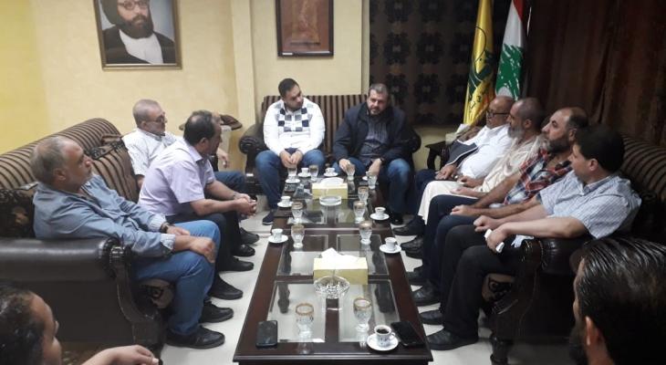 وفد من مخيم عين الحلوة عرض مع مسؤول حزب الله في صيدا مشكلة اجازة العمل للفلسطيني