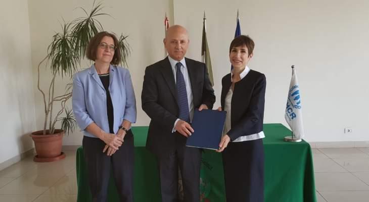 مفوضية اللاجئين وحكومة إيطاليا وقعتا اتفاقية بـ1.7 مليون يورو للرعاية الصحية للنازحين بلبنان
