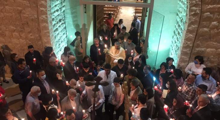 النشرة: احتفالات عيد الفصح في كنيسة سيدة الزلزلة العجائبية في زحلة