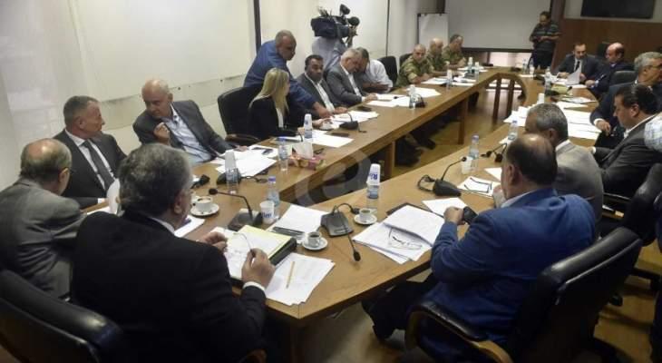 اللجنة الفرعية المكلفة درس قانون البلديات بحثت القوانين الواردة إليها