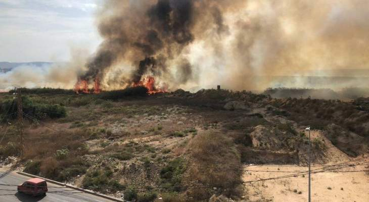 الدفاع المدني: انتهاء عمليات الإطفاء والتبريد في حريق داخل محمية صور