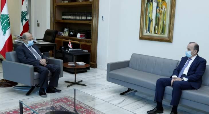 عون استقبل رئيس المجلس الدستوري وبحث معه عمل المجلس وعددا من القضايا القانونية