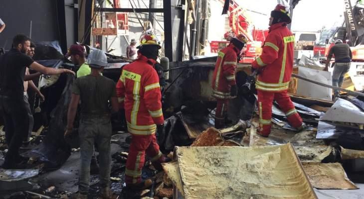 فوج اطفاء بيروت سيطر على حريق اندلع في خيمة رمضانية في وسط بيروت