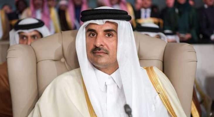 أمير قطر يتمنى في برقية للرئيس عون النجاح للحكومة اللبنانية الجديدة في مهامها