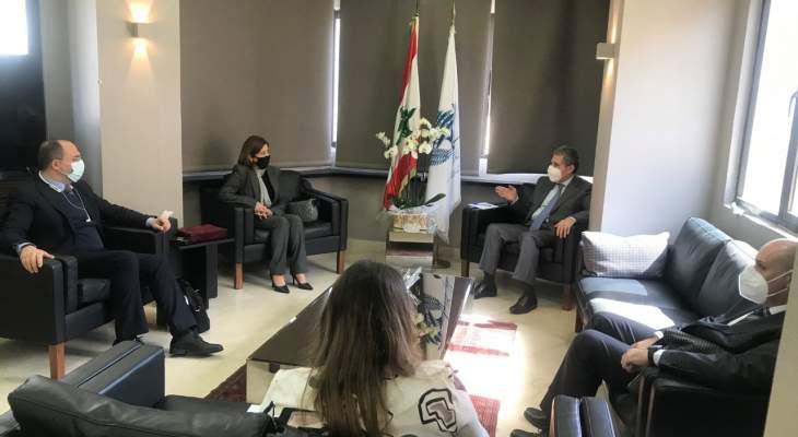 وزني التقى رئيسة غرفة في ديوان المحاسبة ورئيس التفتيش المركزي