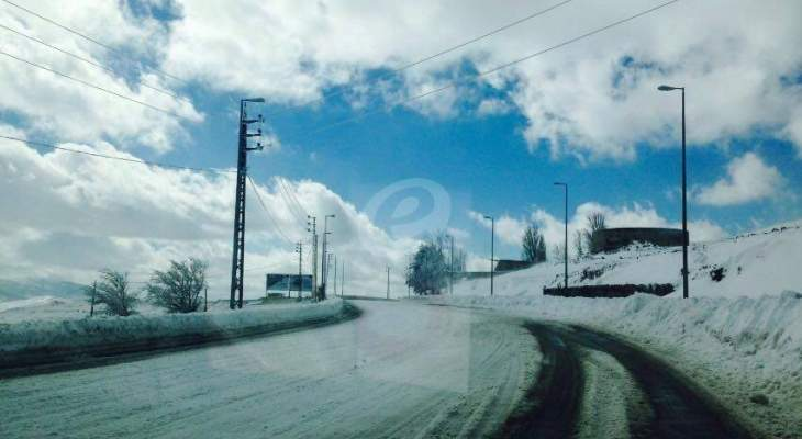 التحكم المروري: طريقا ضهر البيدر وترشيش- زحلة سالكتان أمام جميع المركبات