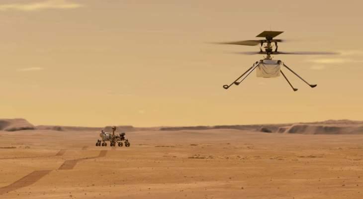 """مروحية """"ناسا"""" تحلّق في سماء المريخ"""