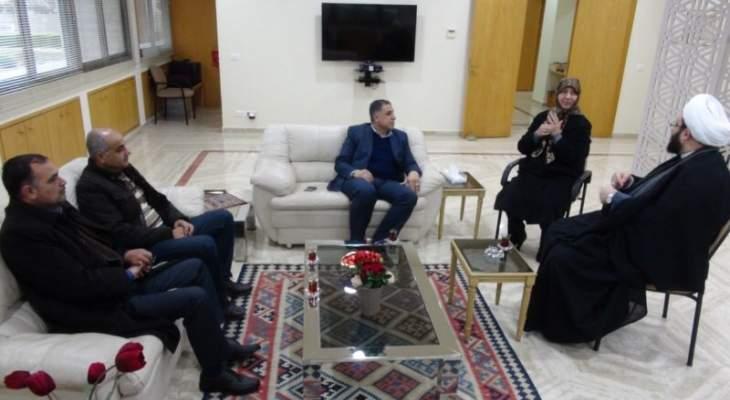 وفد من حركة امل يزور مؤسسات الامام الصدر في صور ويلتقي السيدة رباب الصدر