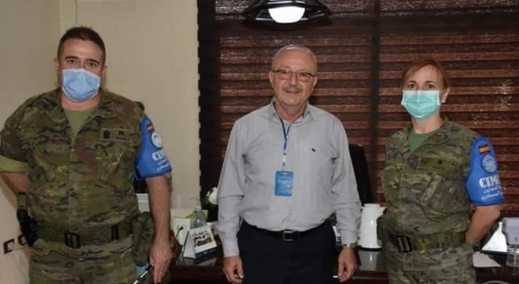 رئيس اتحاد بلديات الحاصباني التقى مسؤولة العلاقات المدنية في اليونيفيل