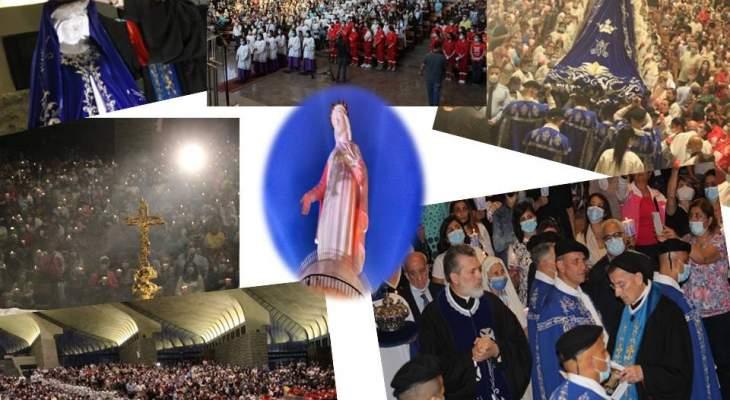 صلاة الأسرار بمزار سيدة لبنان بحاريصا ضمن الماراتون المريمي الذي دعى له البابا فرنسيس