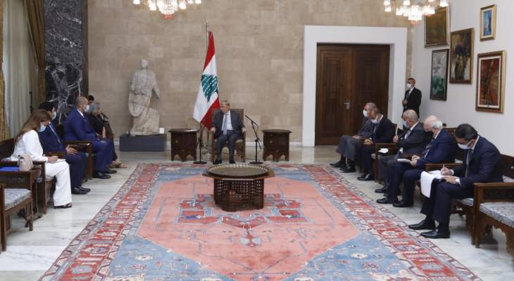 الرئيس عون طلب من المديرة الإقليمية للمنظمة الدولية للهجرة المساعدة لاعادة النازحين السوريين