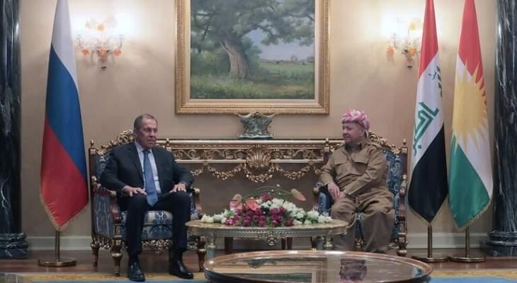 أكراد العراق يناشدون لافروف حماية موسكو لاكراد سوريا من الأتراك