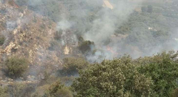 حريق في وادي هونين تسبب بتفجير ألغام من المخلفات الاسرائيلية