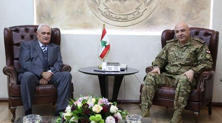 قائد الجيش عرض الاوضاع العامة مع بقرادونيان وعسيران والتقى رولان خوري