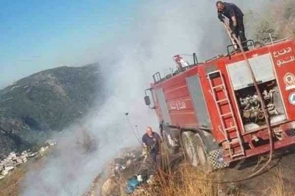 الدفاع المدني أخمد 3 حرائق في منطقة الضنية