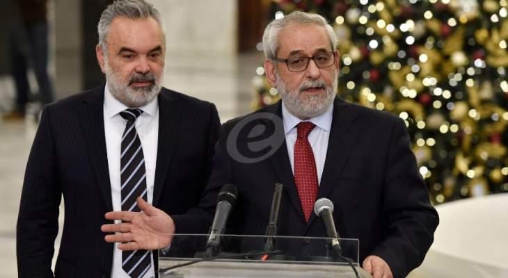 بقرادونيان: نريد حكومة دون شروط مسبقة وشروط مضادة وان تكون انقاذية