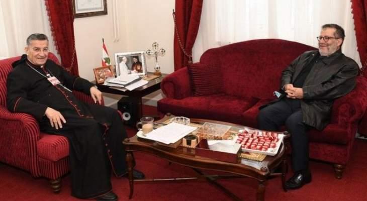موفد جعجع زار الراعي وأكد متانة العلاقة بين القوات اللبنانية والصرح البطريركي