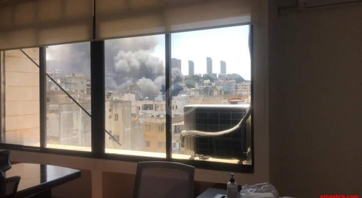 النشرة: حريق كبير في الدكوانة لم تعرف اسبابه بعد