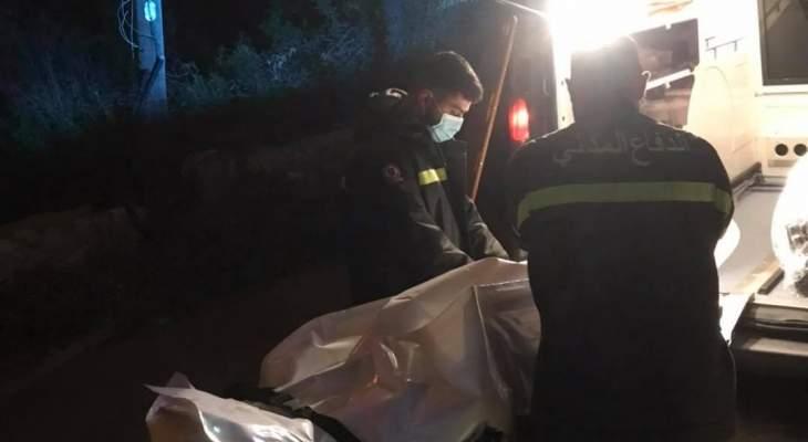الدفاع المدني: نقل جثة رجل من اده إلى مستشفى سيدة المعونات في جبيل