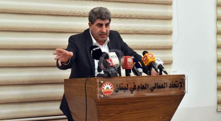 طليس أعلن عن إضراب لقطاع النقل بكل فئاته يوم الأربعاء 18/11