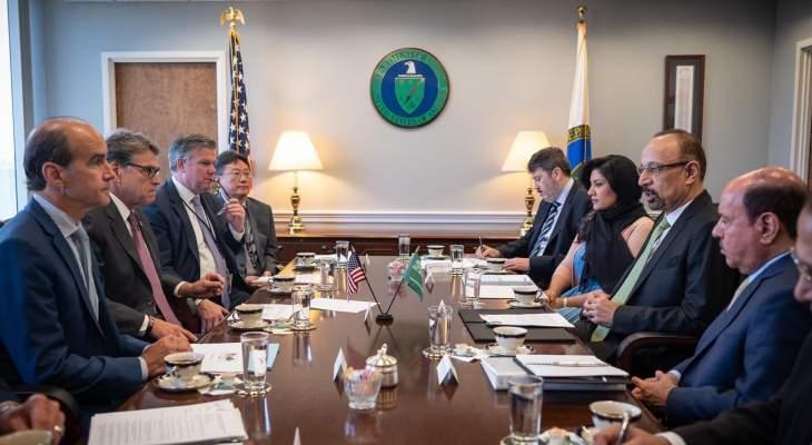 وزير الطاقة السعودي التقى نظيره الأميركي: نعتزم العمل لضمان أمن  إمدادات الطاقة العالمي