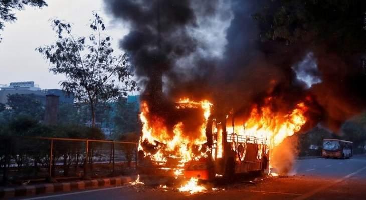 سلطات الكونغو: إحتراق 40 شخصا إثر انقلاب حافلتهم واندلاع النيران به