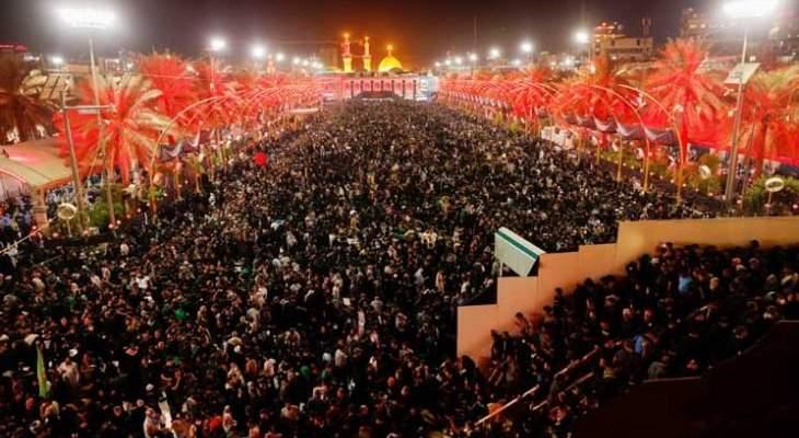 احياء مراسم أربعينية الإمام الحسين في كربلاء وسط إجراءات أمنية مشددة