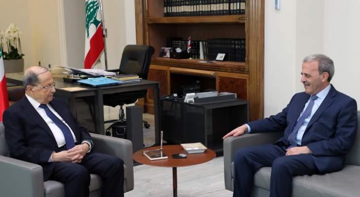 عون التقى السفير عيسى وبحث معه سبل تطوير العلاقات اللبنانية الأميركية