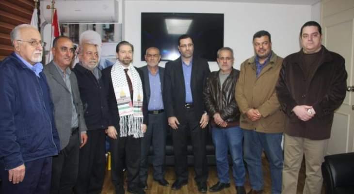 كرامي استقبل وفدا من تحالف القوى الفلسطينية: المقاومة هي التي تحرر الأرض