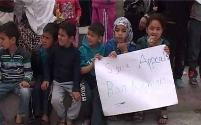 اعتصام لنازحين سوريين بطرابلس احتجاجا على تقليص خدمات الامم المتحدة