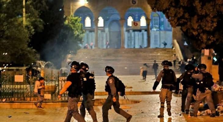 الهلال الأحمر الفلسطيني: ارتفاع عدد إصابات المواجهات بالقدس إلى 163 شخصا