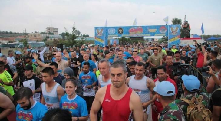 الكتيبة الإندونيسية نظمت ماراتون ١٢ كم للمدنيين بالتعاون مع الاتحاد اللبناني للرياضة