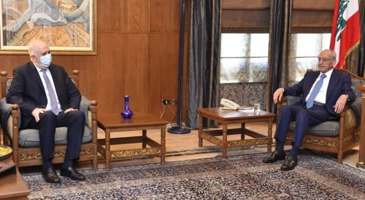 بري عرض مع فهمي للأوضاع الأمنية والمستجدات السياسية والتقى مينجيان وبن جدو