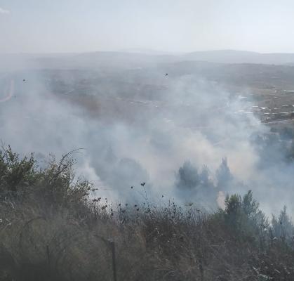 حريق في ميس الجبل أدى إلى  إنفجار الغام من مخلفات الجيش الاسرائيلي