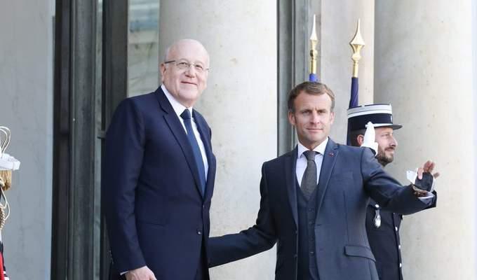 ماكرون بعد لقائه ميقاتي: لبنان يستحق وضعاً أفضل مما هو عليه الآن وسنواصل العمل مع الحكومة الجديدة