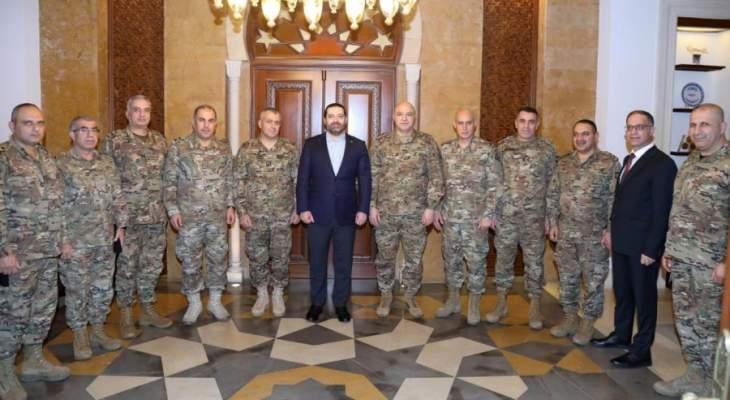 الحريري التقى قائد الجيش على رأس وفد في زيارة تهنئة بحلول العام الجديد