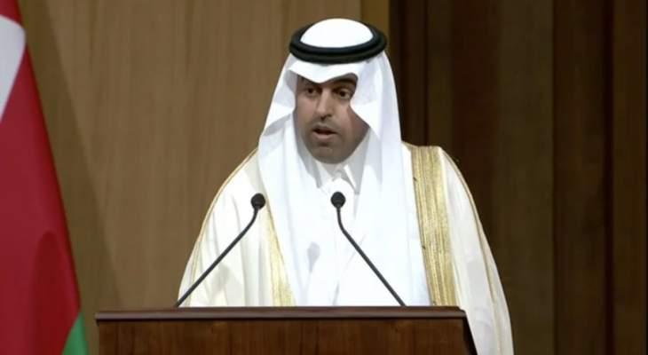 """رئيس البرلمان العربي: لإصدار قرارات دولية تُعاقب """"أنصار الله"""" وداعميها"""