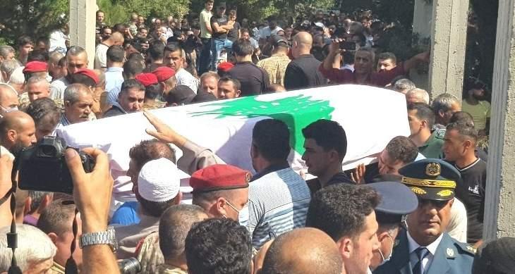 تشييع العريف الشهيد محمد النشار في بلدة عيات