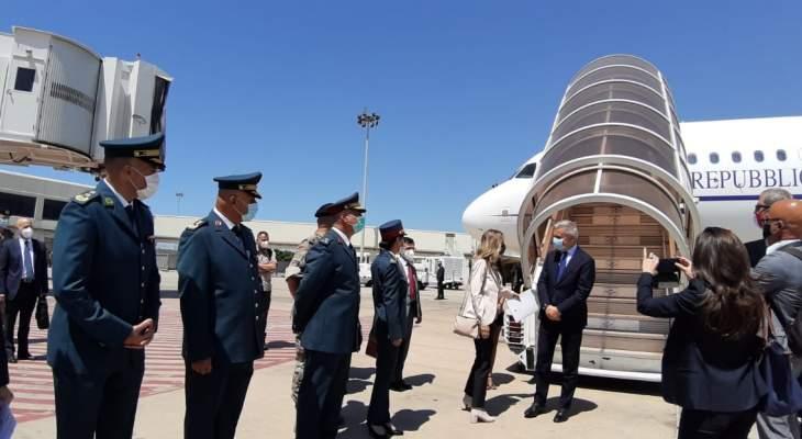 وصول وزير الدفاع الإيطالي الى بيروت