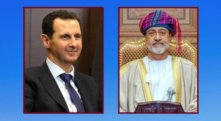 سلطان عمان هنأ رئيس سوريا وتمنى له النجاح بمواصلة قيادة الشعب لتحقيق تطلعاته