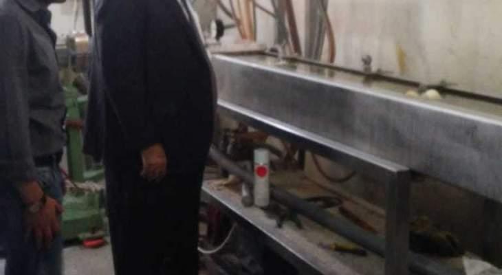 وزير البيئة تفقّد معمل معالجة وتدوير النفايات البلاستيكية في رومية