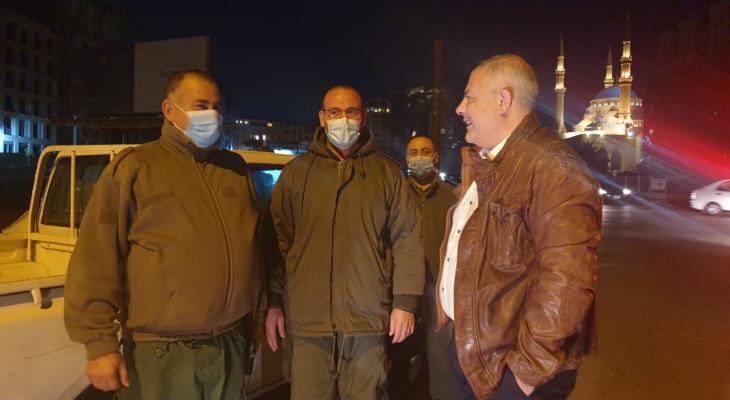 محافظ بيروت جال على نقاط تمركز عناصر فوجي اطفاء وحرس بيروت