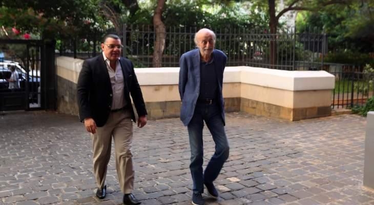 جنبلاط بحث مع علوي بالأوضاع السياسية العامة في لبنان والمنطقة