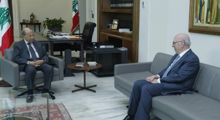 الرئيس عون عرض الأوضاع مع الوزير السابق شكيب قرطباوي