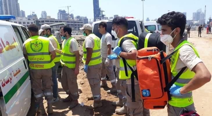 جمعية الرسالة للاسعاف الصحي: 38 سيارة اسعاف و155 مسعفا شاركوا بعمليات الامس في بيروت